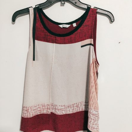 Reitmans Printed Sleeveless Top – Size Small