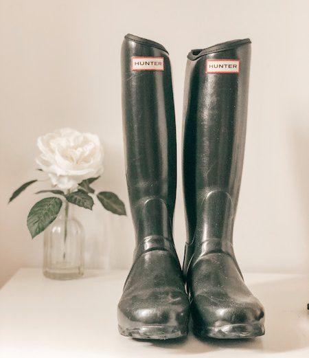 Hunter Boots Dark Green – Size 7