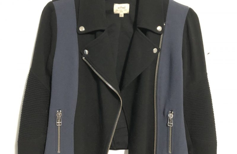 Aritzia Black and Blue Side Zipped Collard Jacket – Size 0
