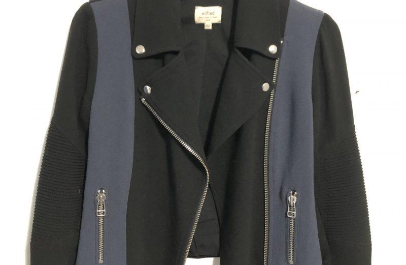 Aritzia Black and Blue Side Zipped Collard Jacket – Size 0