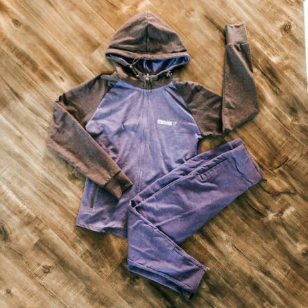 Gymshark Purple Sweatshirt and Jogger Athletic Wear Set – Size S